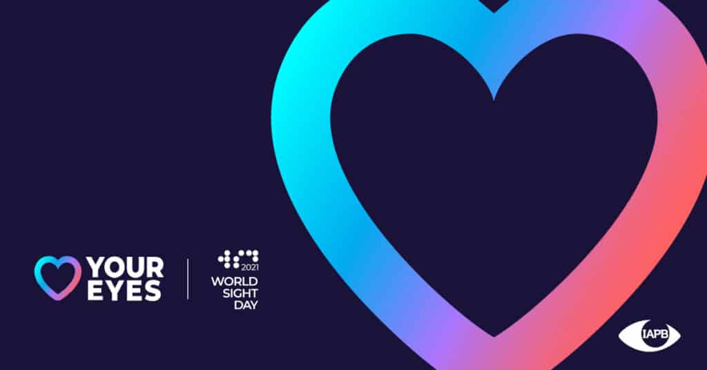 Multi-colored heart for World Sight Day 2021